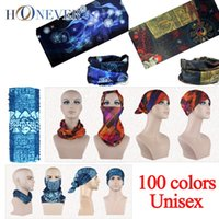 Wholesale Unisex Turban Magic Headband Outdoor Sports Cycling Bike Bicycle Riding Neck Warmer Multi Head Scarf Scarves Face Bandana Mask