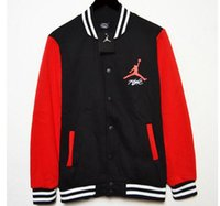 basketball jackets sale - Hot Sales New men Hoodies Sweatshirts autumn fashion casual fleece baseball uniform color matching cuff basketball men s fleece jacket