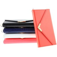 apple photo gifts - Fashion Lady Women Girl Friend Gifts V Shaped Envelope Pouch Leather Cards Cash Photo Slots Wallet Case With Chain For iphone s Plus
