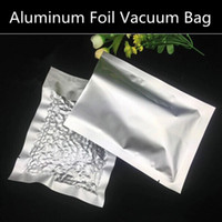 aluminum bags food packaging - 300pcs Small Aluminum Foil Vacuum Bag Sides Open Top Foil Packaging Bag Moisture Proof Food Storage Bag Accepted Logo printed