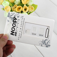 Wholesale NOOSY Nano Sim Micro Sim Standard Sim Card Convertion Converter Nano Sim Adapter Micro sim Card For Iphone Plus All Mobile Devices S10