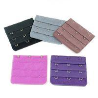 belt buckle hook - NEW Bra Long Extender Strapless Underwear Strap Rows Hooks Nude Adjustable Hook Clip Belt Buckle