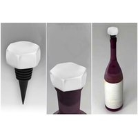 Wholesale 1 Plastic Screw Cap Pattern Wine Bottle Stopper Plug Cork Keeping Fresh Wine Bar accessories x x in