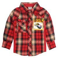 Wholesale retail Y baby boys shirt plaid long sleeve olaf kids shirts children clothes boys tops turn down collar boys clothes