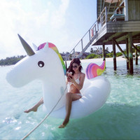 adult pool toys - Giant Inflatable Unicorn Pegasus Water Swimming Float Raft Air Mattress For Adult Kid Swim Ring Summer Holiday Inflatable Pool Toy