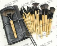 Wholesale Factory Direct DHL New Makeup Brushes Pieces Brush Sets Leather Pouch