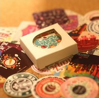 Wholesale 38 set Creative Vintage Themes Stickers Adhesive Stickers DIY Decoration Stickers FOD