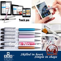 Wholesale Factory outlets Touch pen SW Crystal in Capacitive Touch Stylus Ball Pen for iPhone iPad Samsung Tablet PC Cellphone