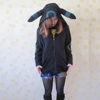 Wholesale Poke Game Cosplay Hoodies Black Zipper Hoodies Jacket Coat Unisex Adult Pajamas