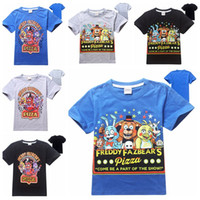 Wholesale Five Nights At Freddy s T shirt Kids Boys Cartoon T shirt Short Sleeve Shirts FNAF Children Tees
