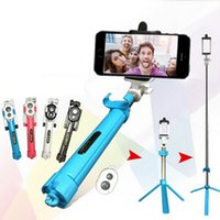 audio clips - 2016 Audio cable Integrated Monopod wired Selfie Stick mono Extendable Handheld Built in Shutter and Clip for iphone Android color