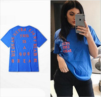 Wholesale SUMMER Unisex West I Feel Like TEE The Real Life Of Pablo Tshirt red yellow blue High Very good quality fashion