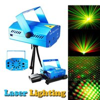 Wholesale Free DHL Portable multi led Projector DJ Disco Light music Stage lights Xmas Party wedding club show Laser Lighting projector Blue
