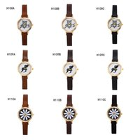 animal watch straps - Geneva animal plant small dial watch Quartz wrist watches fashion power reserve watch narrow strap watch pieces a mixed style GTPH51