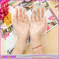 Wholesale Transparent Disposable Gloves for home cooking Disposable Plastic Glove Sanitary Restaurant Home BBQ Cook Kitchen Food