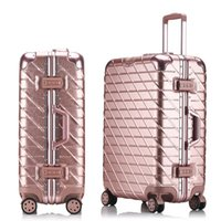 aluminum spinners - 26 inch Aluminum frame drawbars PC TSA lock Universal wheel Scratch resistant luggage travel case suitcase trolley bags valise bagage