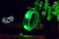 Wholesale LED Voice control Bracelet Glo sticks Electronic LED Flashing Bracelet Glow Bracelets LED Wrist Band Christmas LED Bracelet ZD057C