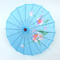 asian parasols - Gooodluck New Light blue Japanese Asian art decoration Bamboo Umbrella