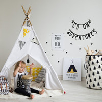 Wholesale 100 Cotton Canvas Teepee Canopy Tent Playhouse Indoor High Quality Toy Teepee Popular Play Tent for Kids Toddlers