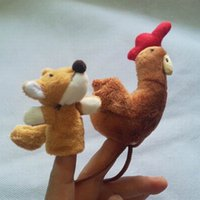 baby staff - Baby Plush Toy Finger Puppets Talking Props set animal group baby staffed velvet fabric hand toy