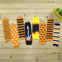 bats legs - Halloween Styles Baby Leg Warmer Zebra Striped Dots Bat Children kids Leg Warmers Tights pink Orange Black Adult Arm warmers Pairs