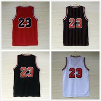 Wholesale Top quality Jerseys Classical Black Red White Basketball Jersey Men Sports wear embroidered Logos Cheap sports Retro shirts