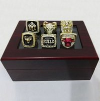 basketball displays - 1991 Bulls basketball world championships Ring Black Enamel Crystal Gold Pleated Ring Men Jewelry with display box