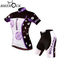 Wholesale Women Summer Racing Riding Cycling Jersey Set Breathable Bike Bicycle T Shirt Short Pants Cycling Suit Ropa Ciclismo Clothing