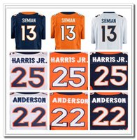 Wholesale Men s Chris Harris Jr CJ Anderson Trevor Siemian Home Stitched Jerseys Free Drop Shipping