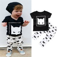 baby outfit patterns - New Arrivals Toddler Baby Children s Outfits Suit Sets Short Sleeve T Shirt Trousers Fox Patterns Cotton Blends Summer KA494