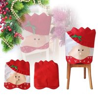 Wholesale Christmas Chair Cover Decorations Lovely Mr Mrs Santa Claus Christmas Dining Room Chair Cover Home Party Decor y