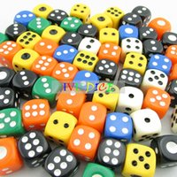big point games - 100pcs MM More Solid colors Dice point big point automatic game KTV mahjong machine dice IVU