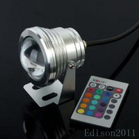 Wholesale W V RGB LED Underwater Light IP68 Waterproof Fountain Colorful Lamp Light Color Change Key IR Remote Controller
