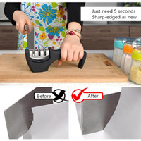 Wholesale New Fast Kitchen Sharpening Tool Three Stages Diamond amp Ceramic amp Tungsten Steel Knife Sharpener Grinder