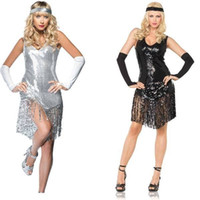 Wholesale Gatsby Girl Costume In Sequined F1198 Sexy Costumes For Adults