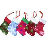 Wholesale cker Christmas Knifes Forks Bag colorful socks Tableware Cutlery Holder Party Decoration set of