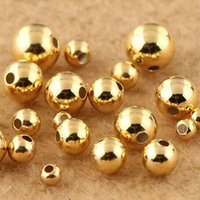 Wholesale 100 Piece Woman S925 Silver Gold Beads Diy Handmade Beads mm Beaded Accessories Round Beaded Small Bead