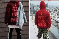 Wholesale 2016 Kanye West Large Size Hoodies I FEEL LIKE PABLO Hooded Sweatshirts Women Men Hip Hop Lover Streetwear Man Hoodie Coat