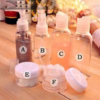 Wholesale Small Travel Jars - Set Of 6Pcs Travel Empty Small Sample Liquid Cream Spray Pperfume Bottles Jar Container Mask Bottle