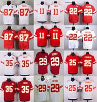 alex smith - Chiefs Elite Mens Stitched Travis Kelce Eric Berry Marcus Peters Alex Smith Jamaal Charles Jerseys Free Drop Shipping