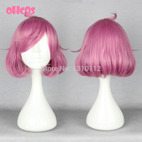 Cheap OHCOS Anime Noragami Character Ebisu Kofuku Cosplay Wig Rose Pink Short Curly Cosplay Wigs