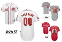 bench wear - 2016 Cincinnati Reds Personality Men s Baseball Jerseys White BENCH Cool Base Majestic Home Away Custom MLB High Quality Stitched Wear