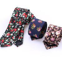 men's ties - Men cotton Neck Ties flower tie Men s casual Solid kintted Narrow Design Flat end Necktie Neck Ties COLORS