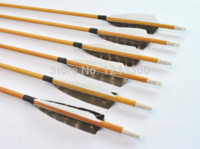 Wholesale pieces spine quot wood grain camo carbon arrow shield back turkey feather hunting archery bow outdoor sport