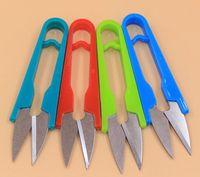 Wholesale plastic handle household scissors practical small tools