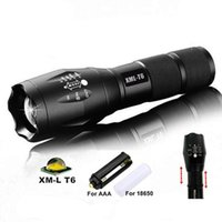 battery powered lights - G700 E17 CREE XML T6 High Power LED Torches Zoomable Tactical LED Flashlights torch light for AAA or x18650 battery New