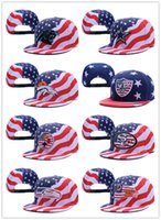 american flag caps - 2016 Newest Snapback All Team Football caps Snapback Hats Summer Cowboy American Flag Hat Women Men Baseball Cap