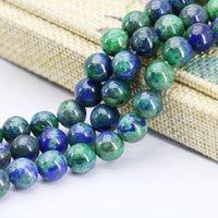 azurite jewelry - 8mm Fashion Lapis lazuli Azurite Chrysocolla Beads Accessories Crafts Loose Beads Jasper Jade Stone Jewelry Making Design inch