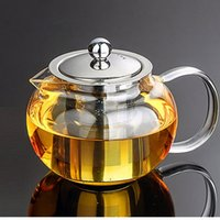 best coffee pots - Best Price Heat Resistant Glass Tea Pot Flower Tea Set Puer kettle Coffee Teapot Convenient With Infuser Office Home Teaset