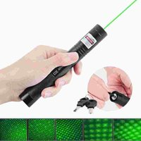 Wholesale car High Power Green Laser Pointer nm mW Laser Pen Powerful Lazer pointer With Starry Head Burning Match Adjustable Length